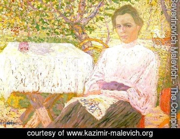Kazimir Severinovich Malevich - Portrait of a woman 2