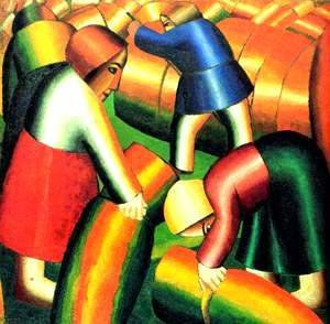 Kazimir Severinovich Malevich - Taking in the rye