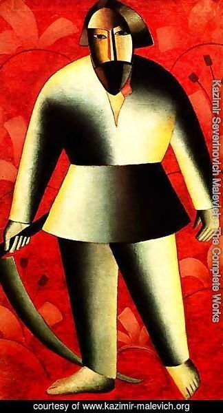 Kazimir Severinovich Malevich - The reaper on red