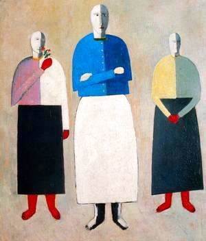 Kazimir Severinovich Malevich - Three women