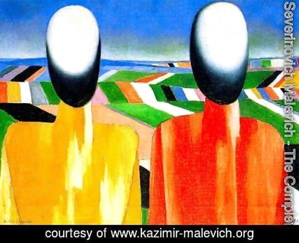 Kazimir Severinovich Malevich - Two peasants