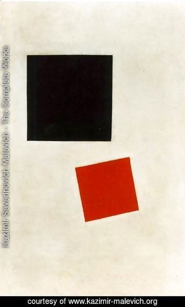 Kazimir Severinovich Malevich - Black Square and Red Square