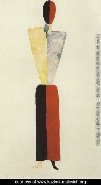 Kazimir Severinovich Malevich - Girl (Figure on White Background)