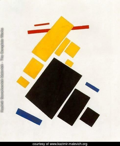 Suprematist Painting: Aeroplane Flying