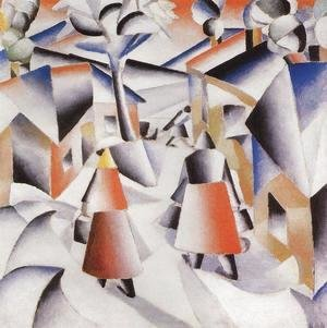 Kazimir Severinovich Malevich - Morning in the Village after Snowstorm