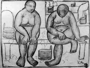 Kazimir Severinovich Malevich - In the Baths