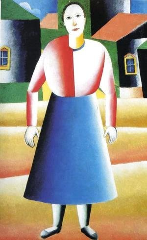 Kazimir Severinovich Malevich - Girl in the Country