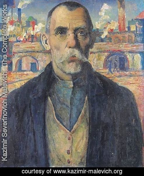 Kazimir Severinovich Malevich - Portrait of a record-setter in work productivity