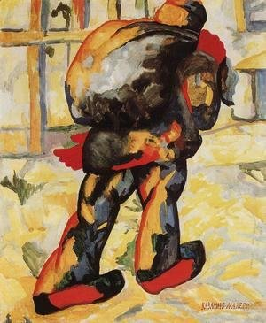 Kazimir Severinovich Malevich - The man with the bag