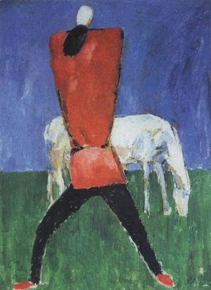 Kazimir Severinovich Malevich - Man with horse