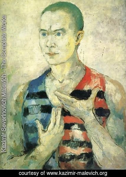 Kazimir Severinovich Malevich - Portrait of a Youth