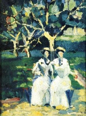 Kazimir Severinovich Malevich - Two Women in a Garden