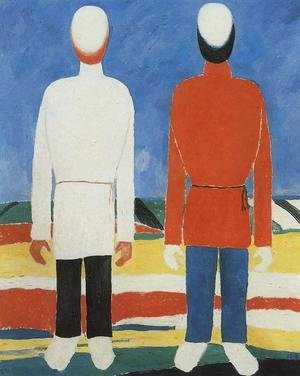 Kazimir Severinovich Malevich - Two Male Figures 2