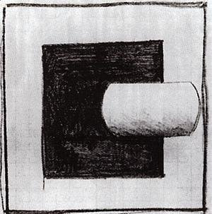 Kazimir Severinovich Malevich - Black square and a white tube-shaped