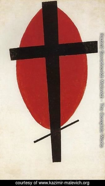 Kazimir Severinovich Malevich - Black cross on a red oval