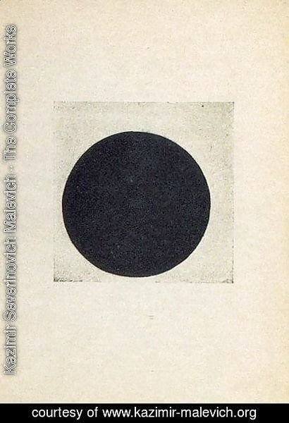 Composition with a black circle