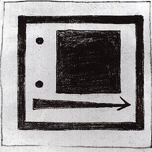 Kazimir Severinovich Malevich - Square, circle and arrow
