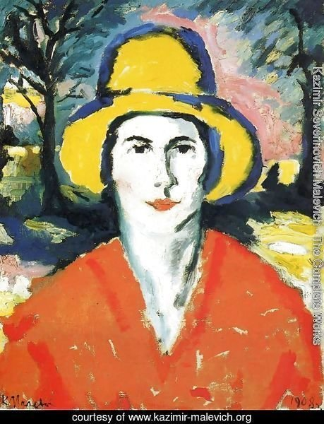 Portrait of Woman in Yellow Hat