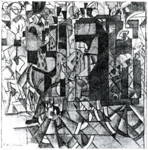 Kazimir Severinovich Malevich - Moving Carriage