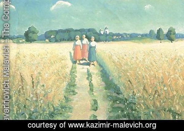 Kazimir Severinovich Malevich - Three women on the road