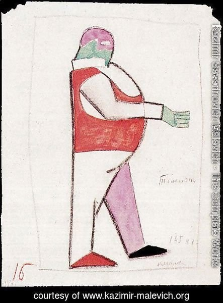 Kazimir Severinovich Malevich - Costume design for the opera Victory over the Sun