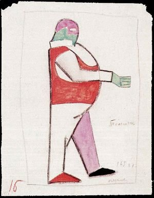Costume design for the opera Victory over the Sun