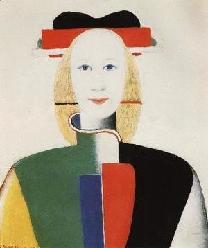 Kazimir Severinovich Malevich - Girl with a Comb in her Hair