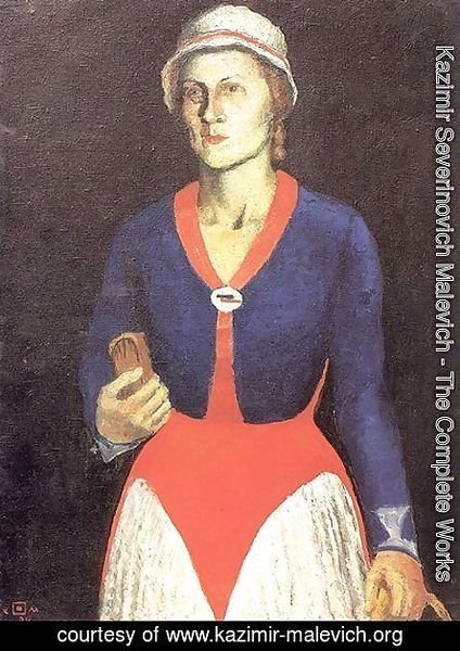 Kazimir Severinovich Malevich - Portrait of the Artist's Wife