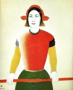 Kazimir Severinovich Malevich - A Girl With A Red Pole