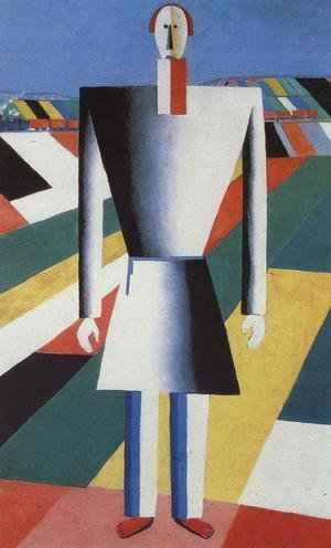 Kazimir Severinovich Malevich - A Peasant In The Field