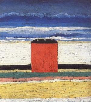 Kazimir Severinovich Malevich - A Red House