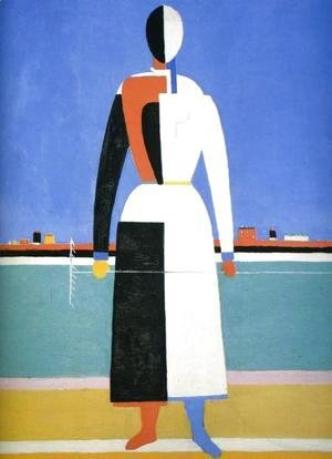 Kazimir Severinovich Malevich - A Woman With A Rake
