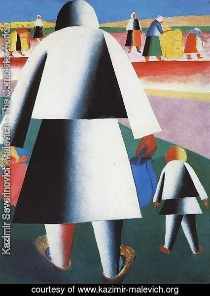Kazimir Severinovich Malevich - At The Harvest (Marpha And Vanka)