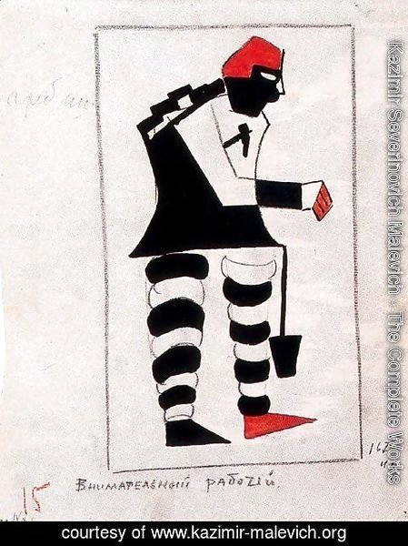 Kazimir Severinovich Malevich - Costumes Design (Old Times  Sportsman  Attentive Worker  Fat Man)