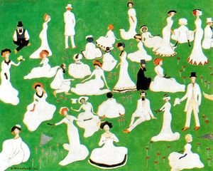 Kazimir Severinovich Malevich - High Society In Top Hats  Relaxing