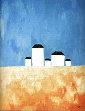 Kazimir Severinovich Malevich - Landscape With Five Houses