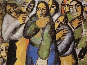 Kazimir Severinovich Malevich - Peasant Women In Church