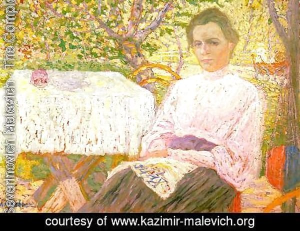 Kazimir Severinovich Malevich - Portrait Of A Member Of The Artists Family
