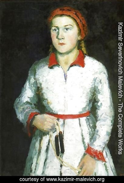 Portrait Of The Artists Daughter  Una Kazimirovna Uriman