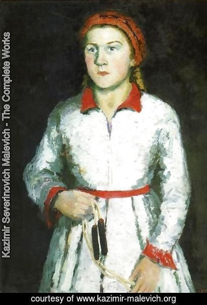 Kazimir Severinovich Malevich - Portrait Of The Artists Daughter  Una Kazimirovna Uriman