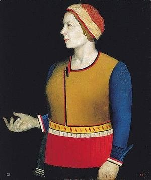 Kazimir Severinovich Malevich - Portrait Of The Artists Wife