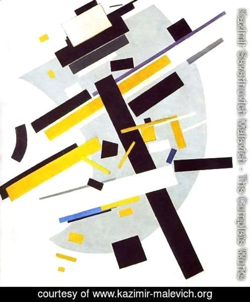 Kazimir Severinovich Malevich - Suprematism (Supremus N58 With Yellow And Black)