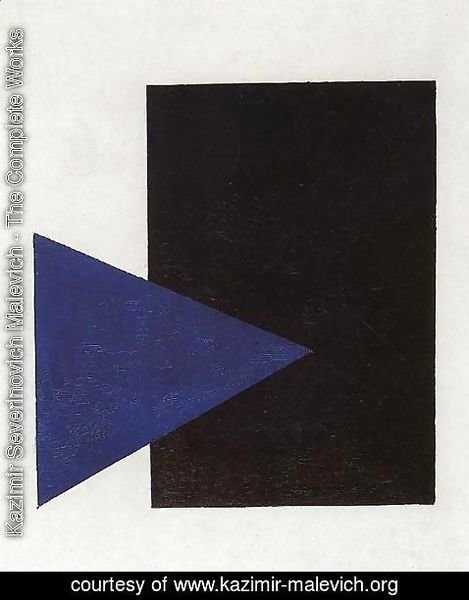 Kazimir Severinovich Malevich - Suprematism (with Blue Triangle And Black Rectangle)