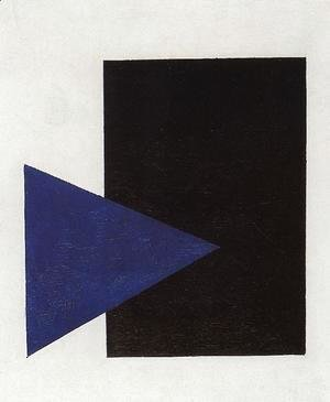 Suprematism (with Blue Triangle And Black Rectangle)