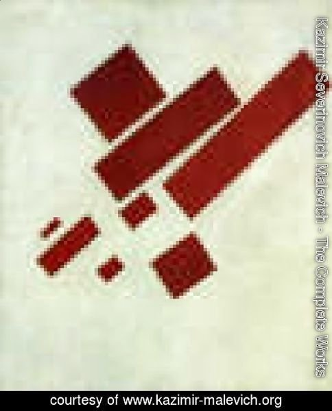 Kazimir Severinovich Malevich - Suprematism With Eight Red Rectangles