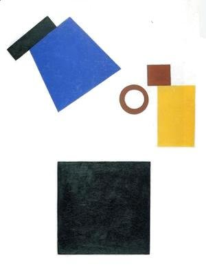 Kazimir Severinovich Malevich - Suprematism  Self Portrait In Two Dimensions