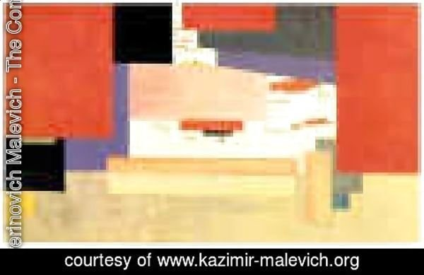 Kazimir Severinovich Malevich - Suprematism  Study For A Curtain