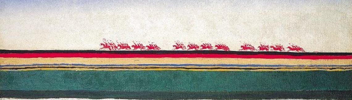 Kazimir Severinovich Malevich - The Red Cavalry Riding