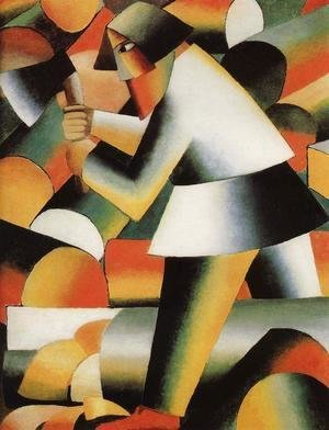 Kazimir Severinovich Malevich - The Woodcutter