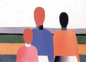 Kazimir Severinovich Malevich - Three Female Figures